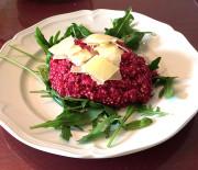 Rode bieten risotto van quinoa